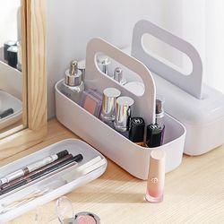 파우더룸 욕실 화장품정리 핸들 커버보관함 슬림 MO10