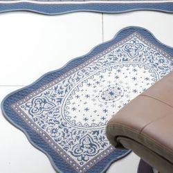 페르시안 블루 워셔블 욕실매트 50x70
