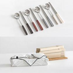 [GIFT] 10 COLORS 카모메 수저세트 4P + 선물포장
