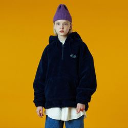 N Original small logo fleece anorak-navy