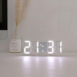 레토 미니 디지털 3D LED 벽시계 알람 탁상시계 LLC-P03DS