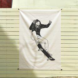스케이트 보드 일러스트 패브릭 포스터.가리개커튼 (태피스트리)