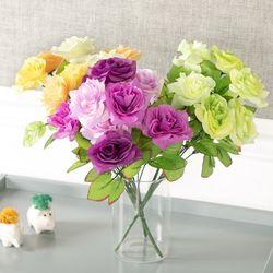 밀든장미부쉬o 33cm 조화 꽃 소품 인테리어 FAIAFT