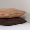 Camel Wool Check Cushion 50x30