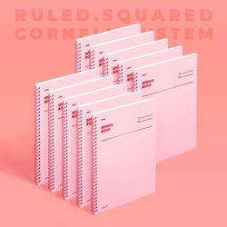 스프링북 컬러칩 - 로즈쿼츠 (룰드) 10EA