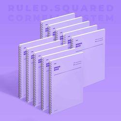 스프링북 컬러칩 - 바이올렛 (룰드) 10EA
