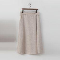 Wool Wrap Long Skirt