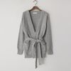 Angora Wool Belt Cardigan