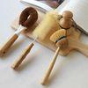 우드핸들 청소 브러쉬-도넛솔