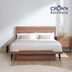 클라우드 라이트 월넛 침대 SS(독립매트리스 포함)