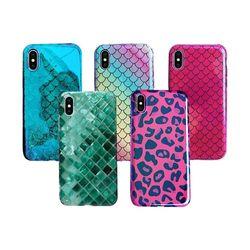아이폰8 컬러 패턴 커버 젤리 케이스 P452