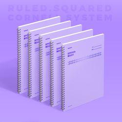 스프링북 컬러칩 - 바이올렛 (스퀘어드) 5EA