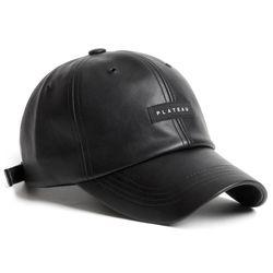19F LEATHER BLACK LABEL CAP BLACK