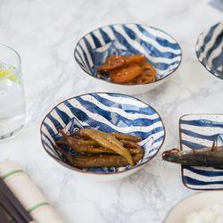 물고기 도자기 그릇 앞접시 5P 찬기(중)