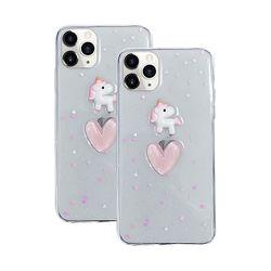 아이폰8 러블리 큐티 유니콘 하트 실리콘 케이스 P439