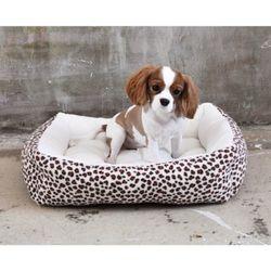 강아지쿠션 방석 도그포즈 레오파드 사각방석(중)