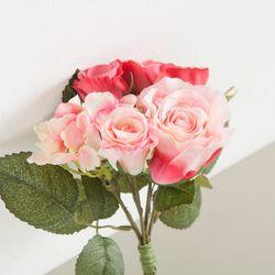 로즈수국번들(6개입)o 22cm 조화 꽃 소품 장식 FMBBFT