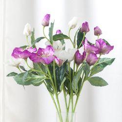 헬레보레스가지o 57cm 조화 꽃 소품 인테리어 FAIAFT