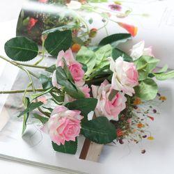 3송이장미가지o 32cm 조화 꽃 소품 인테리어 FAIAFT