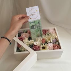 awesome mix 부모님선물 어버이날 설날 명절선물 비누꽃용돈박스