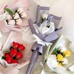 데일리 7송이 비누꽃다발 4color