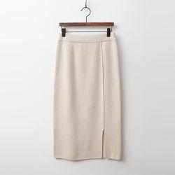 Cashmere N Wool Rose Long Skirt
