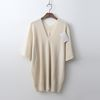 Laine Cashmere N Wool Double V-Neck Sweater - 6부소매