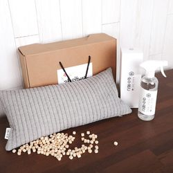 피톤치드 양면누빔 편백베개 + 편백수 1인 선물세트
