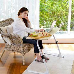 다용도 이동식 미니테이블 1인용책상 거실 침실 보조테이블