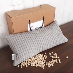 양면누빔 편백베개 1인 선물세트 (2kg 편백충전재)