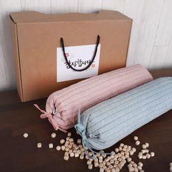 경추누빔 편백베개 2인 선물세트 (편백나무충전재)