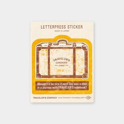Travel Tools Collection Letterpress Sticker 옐로우