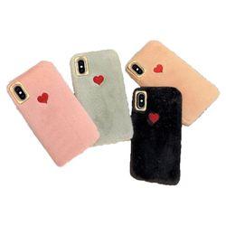 아이폰8플러스 러블리 하트 퍼 젤리 케이스 P485