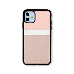 아이폰11 보호 카드케이스 씨원-핑크