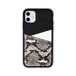 아이폰11 보호 가죽 카드케이스 오원-블랙(파이톤)