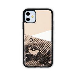 아이폰11 보호 가죽 카드케이스 오원-베이지(파이톤)