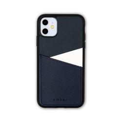 아이폰11 보호 가죽 카드케이스 오원-네이비(사피아노)