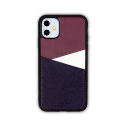아이폰11 보호 가죽 카드케이스 오원-퍼플(사피아노)