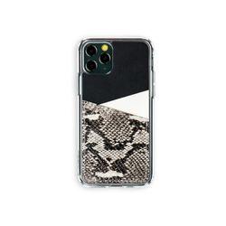아이폰11프로 보호 가죽 카드케이스 오원-블랙(파이톤)