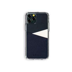 아이폰11프로 보호 가죽 카드케이스 오원-네이비(사피아노)