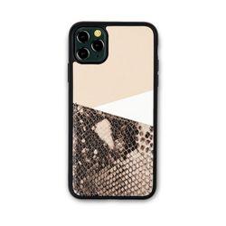 아이폰11프로 맥스 보호 가죽 카드케이스 오원-베이지(파이톤)