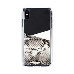 아이폰XR XS MAX 보호 가죽 카드케이스 오원-블랙(파이톤)