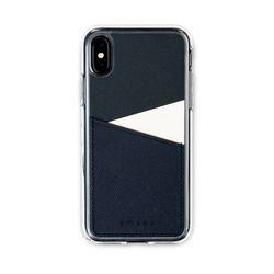 아이폰XS X 보호 가죽 카드케이스 오원-네이비(사피아노)