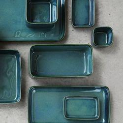 까사무띠 세나 깊은 직사각 접시 특대 17cm 5color