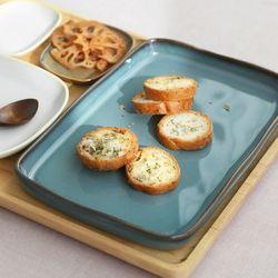 까사무띠 세나 낮은 직사각 접시 특대 23cm 5color