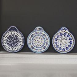 블루 패턴 냄비받침 - 6type