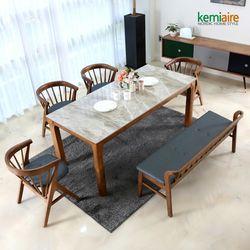 세인트 6인 세라믹 원목식탁SET KHD-953