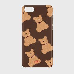 adult bear pattern brown 하드케이스