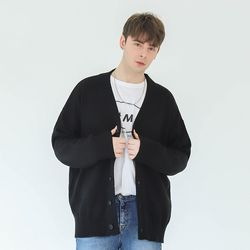 BETTER OVER-FIT CARDIGAN (BLACK)