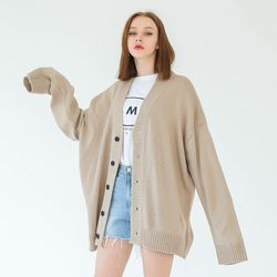 BETTER OVER-FIT CARDIGAN (BEIGE)